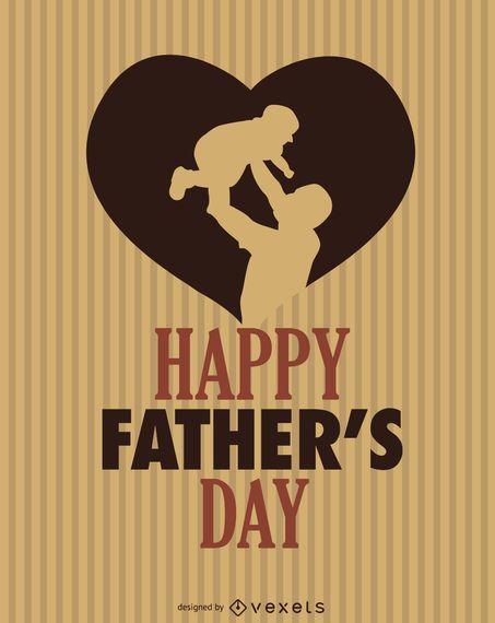 Feliz dia dos pais coração