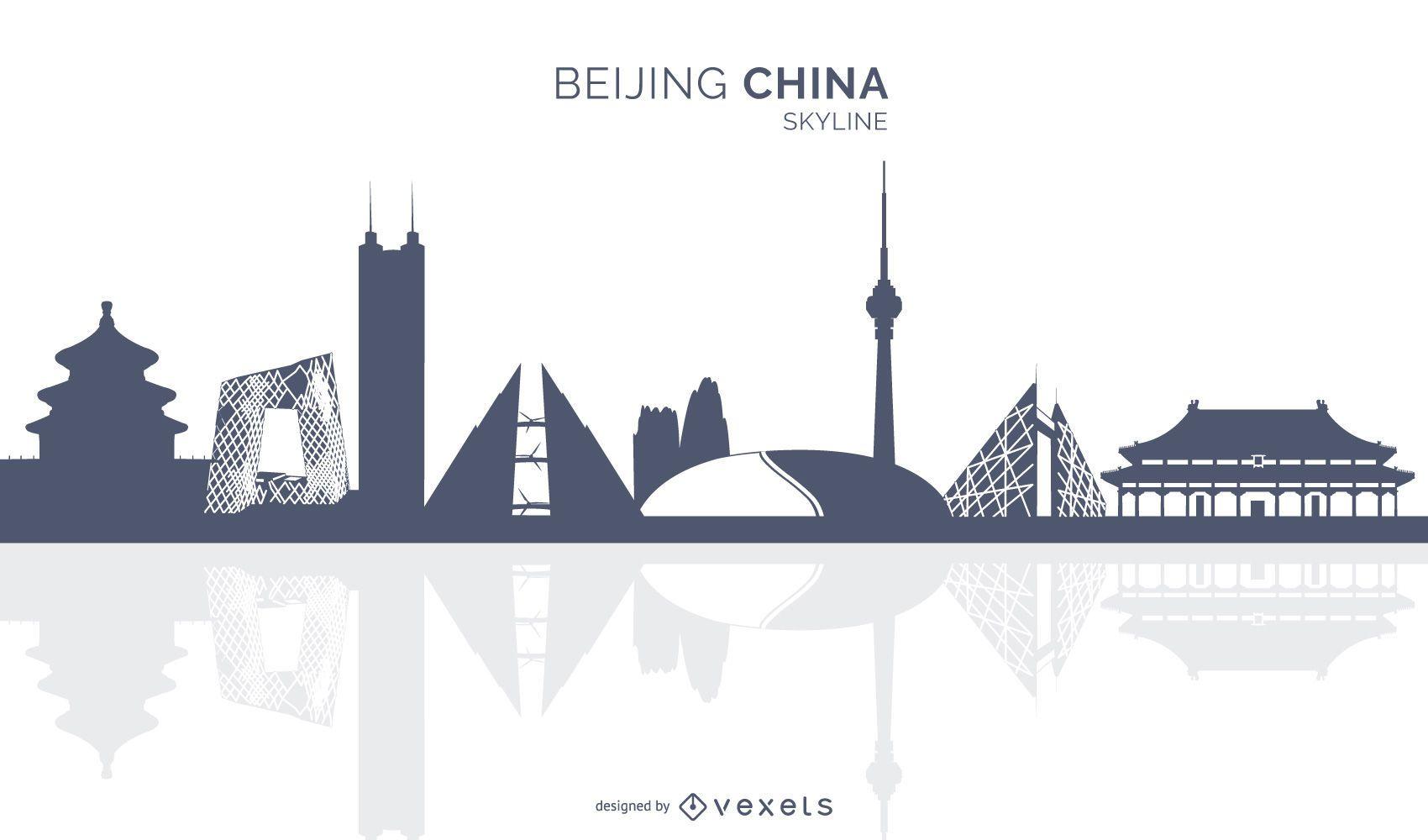 Silhueta do horizonte de Pequim China