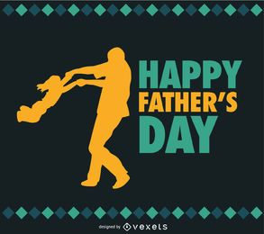 Vetor do dia do Pai e filha Pai