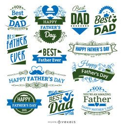 12 Father's day badges