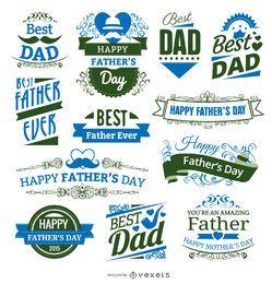 12 insignias del día del padre