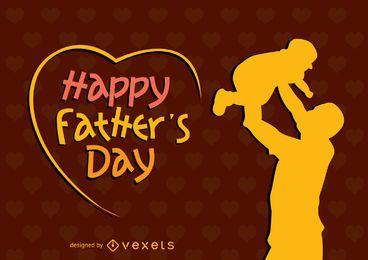 Cartel feliz del día de padre