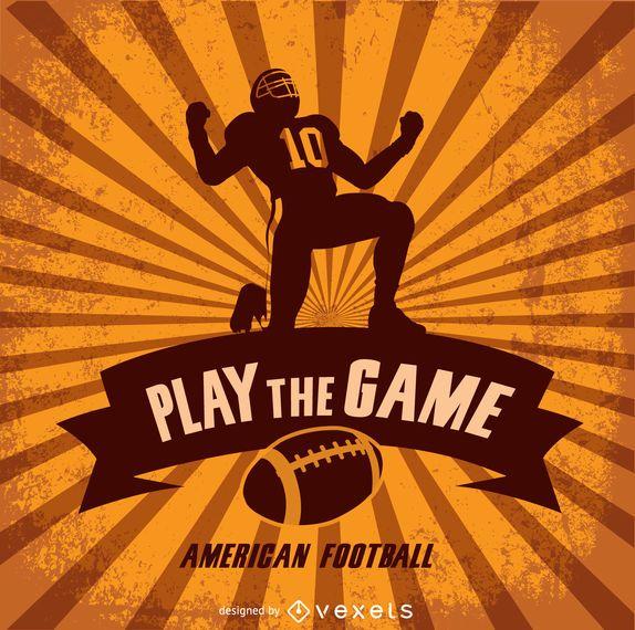 Diseño retro de fútbol americano