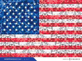 Bandera poligonal de estados unidos