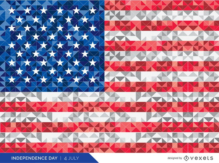 Polygonal USA flag