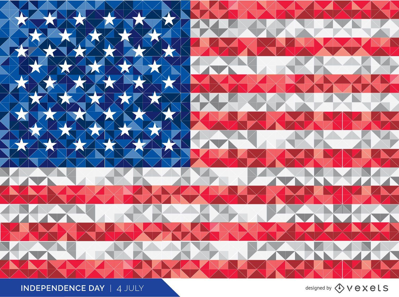 Bandera de Estados Unidos poligonal
