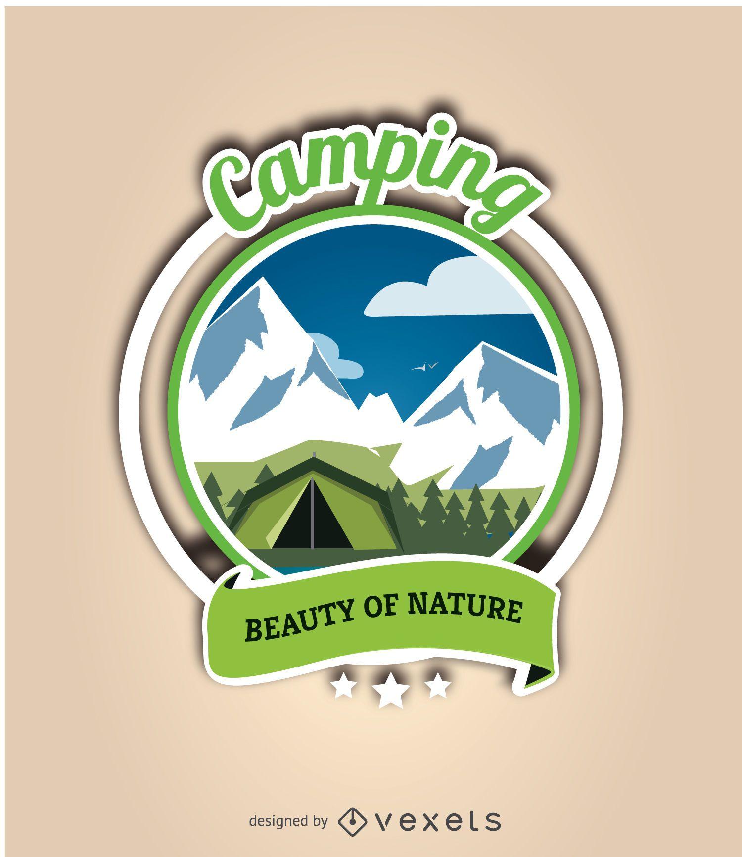Etiqueta de camping