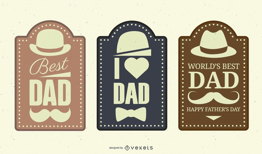 Vintage Father?s Day Label Set