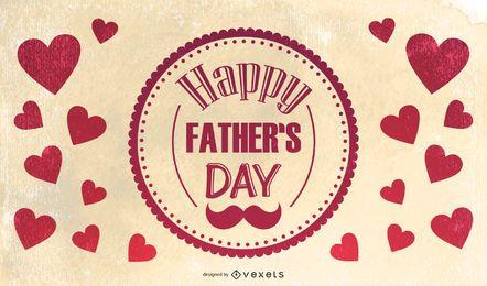 Tarjeta de felicitación retro del día del padre