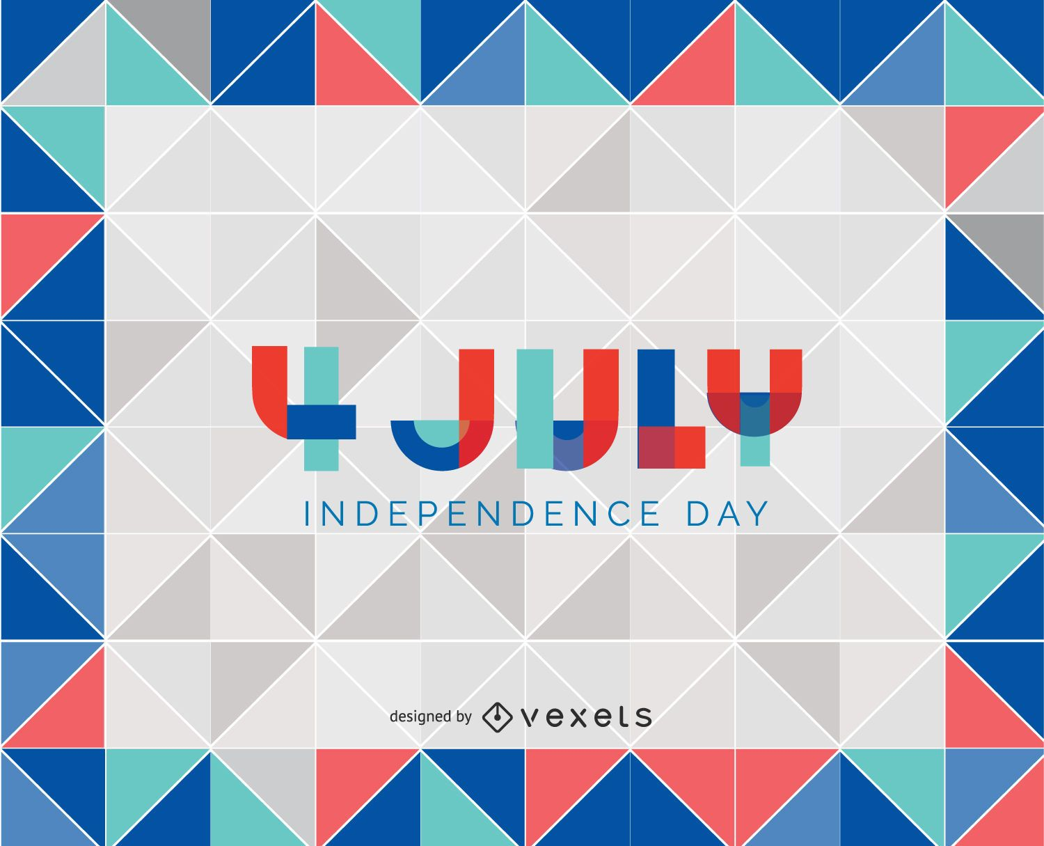 4th of july triangle background