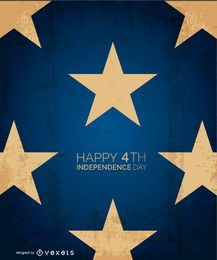 Happy 4th starred design