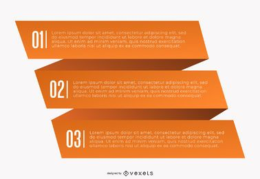 Three Folds Creative Origami Infographic