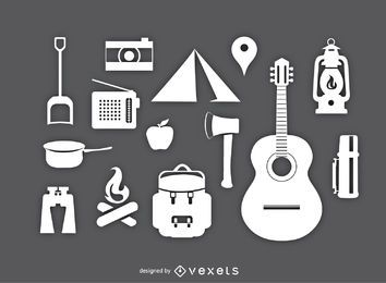 Conjunto de artículos de camping