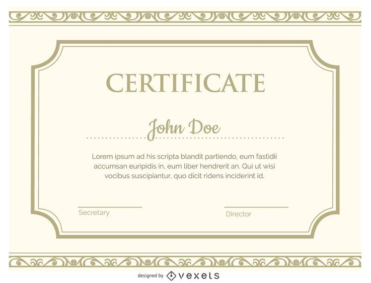 Certificate Template  Vector Download