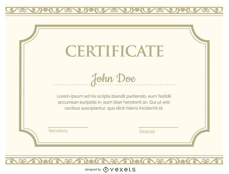 Plantilla de certificado - Descargar vector