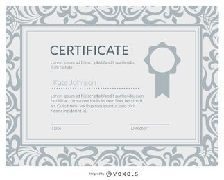 Certificado de diploma elegante