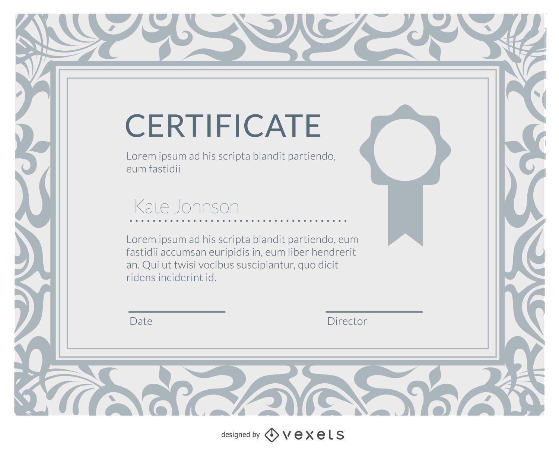 Elegant diploma certificate