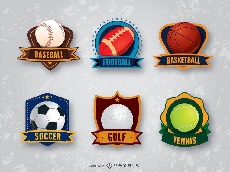 6 emblemas de emblemas de esportes