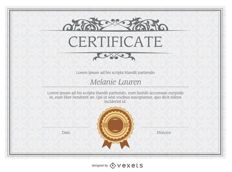 diploma template vector download