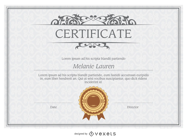 Molde do diploma - Baixar Vector