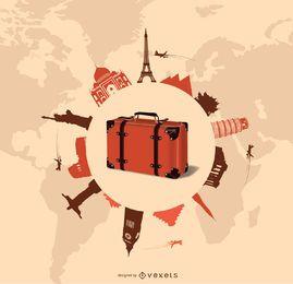 Diseño de viajes y turismo.