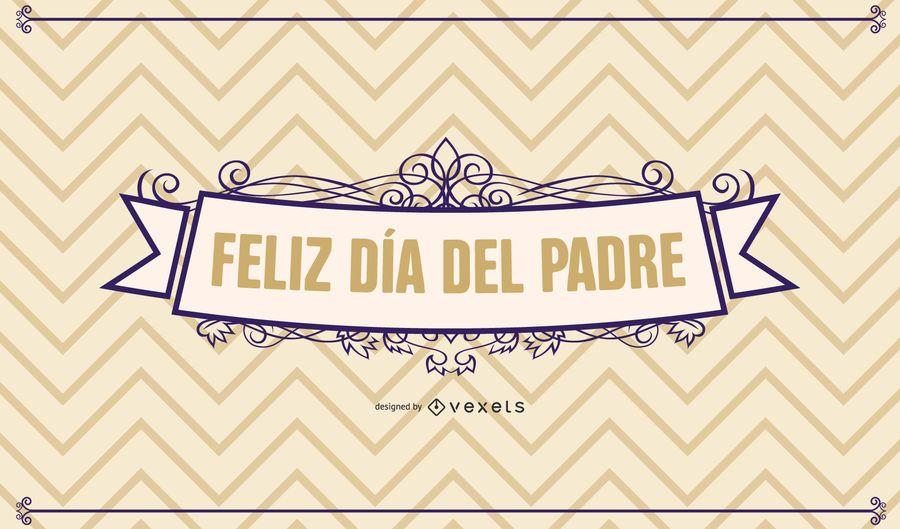 Cartão decorativo retro do dia dos pais