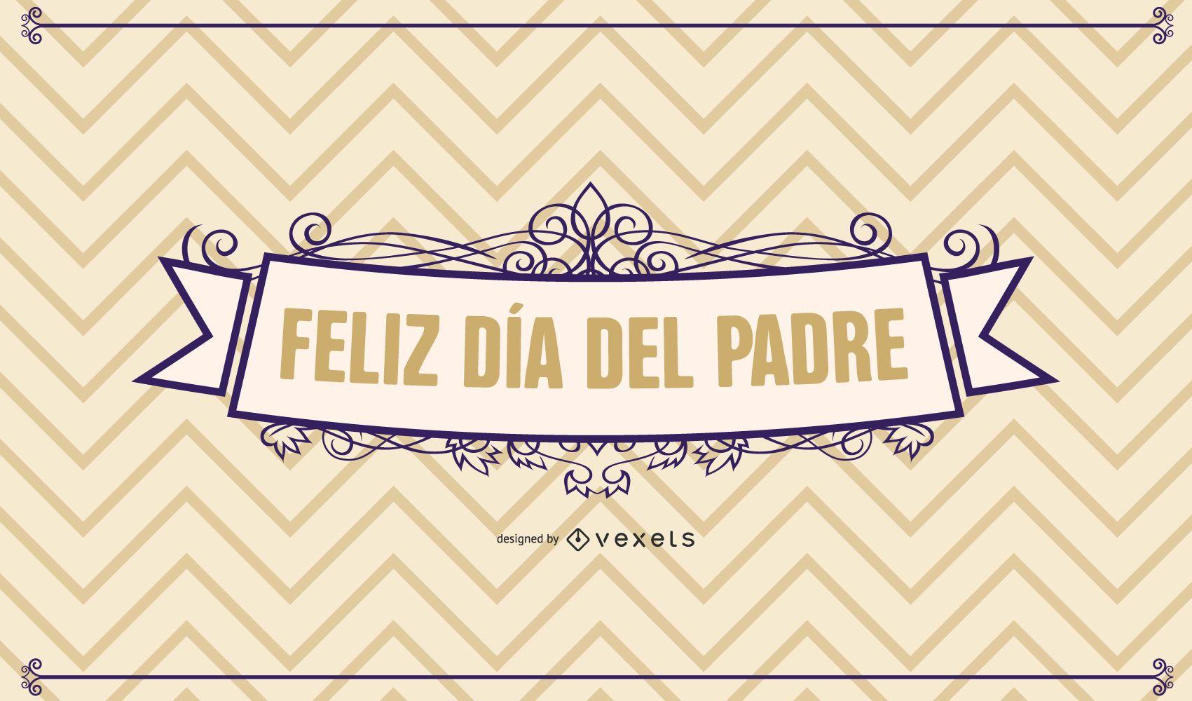 Father?s Day Retro Decorative Card