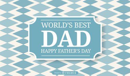 Das beste Vater-Hintergrunddesign der Welt