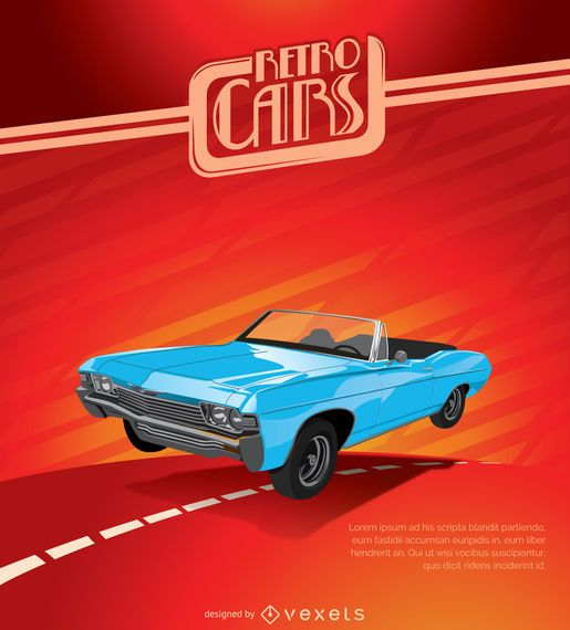 Cartel del coche de la vendimia
