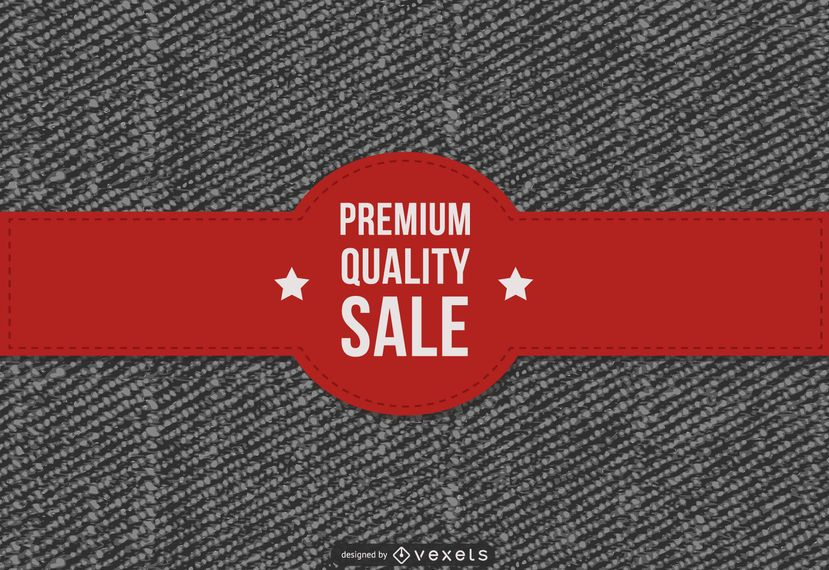 Promoção de vendas de jeans premium