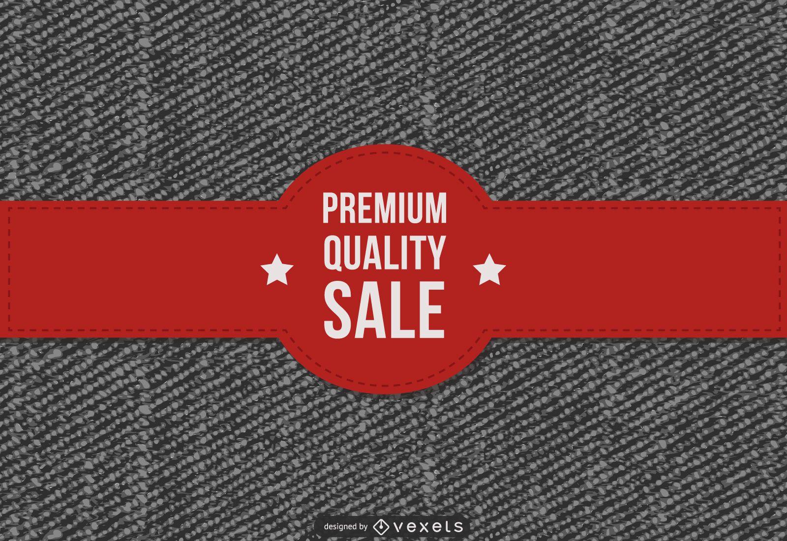 Promoción de rebajas de jeans premium