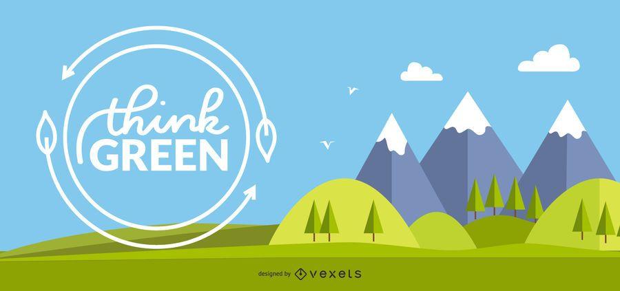 Banners de conceito 3 Eco frescos