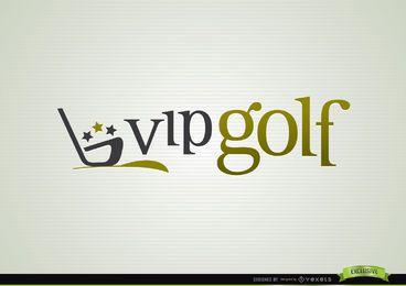 Logotipo de esporte de logotipo de golfe VIP