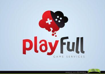 Logotipo de juego completo de juego creativo