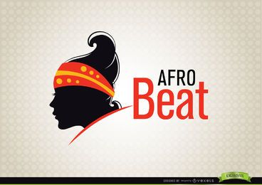 Logotipo de moda de mujer AfroBeat