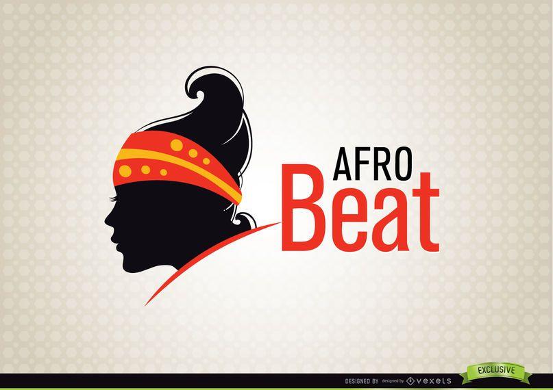 Logotipo da moda mulher AfroBeat