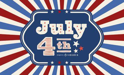 Cartão vintage do Dia da Independência dos EUA