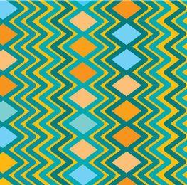 Rhombus zig zag pattern