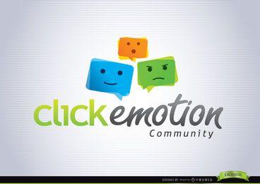 Funky Emoticon bunte Logo-Vorlage