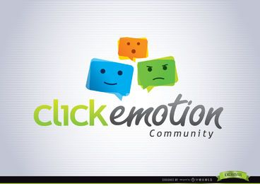 Modelo de logotipo colorido Emoticon Funky