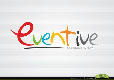 Modelo de logotipo de Design colorido Eventive
