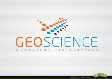 Abstracto GeoScience Naranja Azul Logo