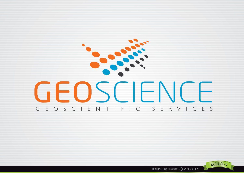 Logotipo azul naranja abstracto de GeoScience