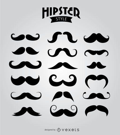 18 bigodes de hipster