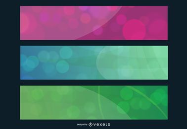 Colorful Bubbles Banner Set