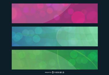 Conjunto de banners de burbujas de colores