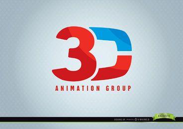 Logotipo da animação 3D