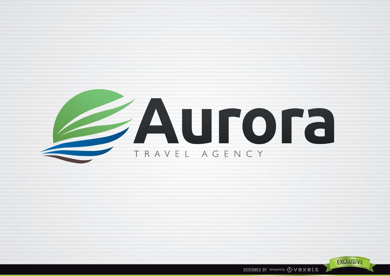 Aurora wing travel agency logo