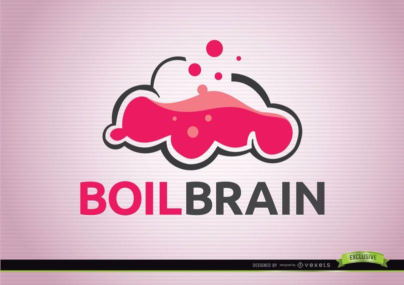Logotipo de creatividad de hervir cerebro.