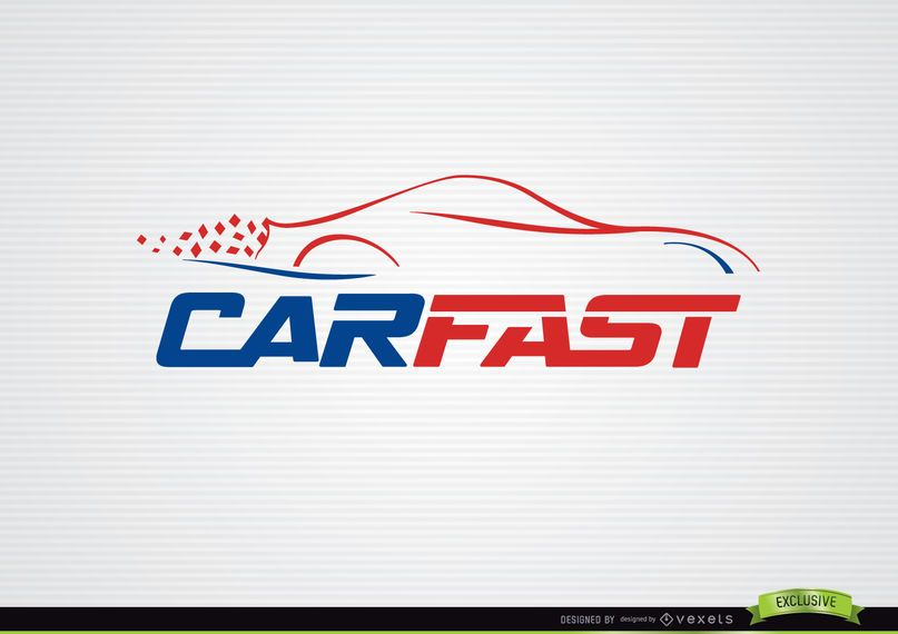 Fast car lines logo